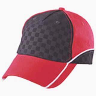 Racing Cap Embossed_hats-company.de_MB6560_red-black-white_also available in black-black-white and black-black-red